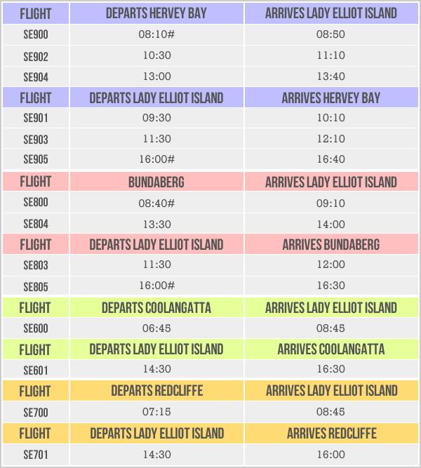 Flights | Lady Elliot Island Eco Resort Great Barrier Reef